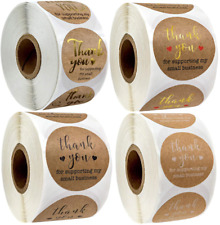Thank You Stickers For Supporting My Small Business Professional Labels 25mm