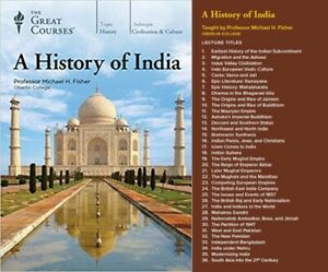 Great Courses: A History of India Audio CD Book Set BRAND NEW Factory SEALED