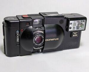 *Film Tested / READ! * - OLYMPUS XA 35mm FILM RANGEFINDER CAMERA w/A11 FLASH