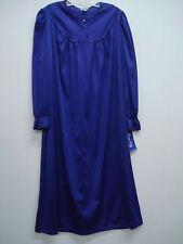 USA Made Nancy King Lingerie Soft Luster Nylon Waltz Gown Size M PURPLE #633Q