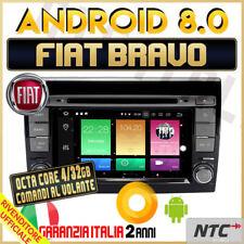AUTORADIO Android 8.0 OctaCore 4gb / 32GB FIAT BRAVO DVD MP3 Navigatore MAPPE /