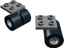 Lego Wheel Assembly x2 Light Stone Grey Wheels Plane Jet Space Shuttle Airport