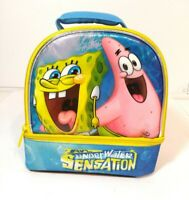 """Spongebob Squarepants and Patrick Dome 9.5"""" Insulated Lunch Bag Lunchbox- Used"""