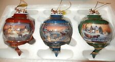 Terry Redlin Holiday Memories Heirloom Porcelain Ornament Collection 3 1999 2nd