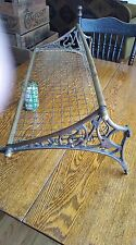 antique Brass Railroad Car Overhead Luggage Rack Train Shelf Hanger  NSW RAILWAY