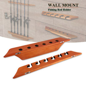 6 Wall-Mounted Fishing Rod Storage Racks Split Vertical Fishing Rod Display Rack