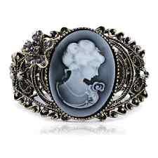Bracelet intaille Camée Cameo gothique bracelet KAMEO fleur strass