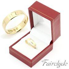 Antique Victorian 18ct Gold 4.4mm Wedding Band Ring Hallmarked 1884 Size M/6.5