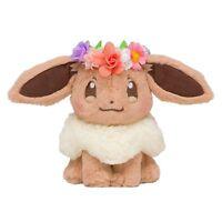 New Japan Pokemon Center Easter Flower Eevee Soft Plush Christmas gift