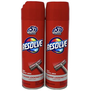 [ LOT OF 2 ] Resolve High Traffic Carpet Foam Cleans Fresh Removes Stains  22oz