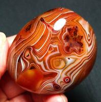 TOP 137.5G Natural Polished Banded Agate Crystal Madagascar Healing  A96