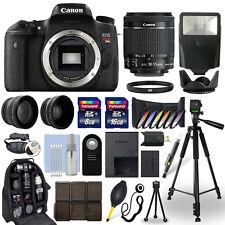 Canon T6s / 760D DSLR Camera + 18-55mm IS STM Lens + 24GB Multi Accessory Bundle