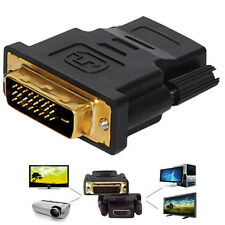 DVI-D Male (24+1 pin) to HDMI Female (19-pin) HD HDTV Monitor Display Adapter UK