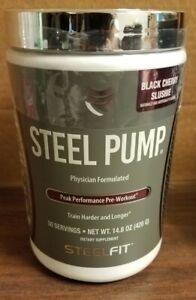 Steel Pump Pre Workout--Black Cherry Slushie