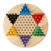 Chinese Checkers 11 Inch Wooden Board Up to 6 Players Family Board Game