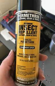 Sawyer Lot of 12 Premium Permethrin Clothing Insect Repellent Aerosol Spray 6 Oz