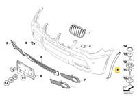 Neuf Véritable BMW X3 E83 LCI Extension Roue Arc Housse avant Gauche 3455933 OEM