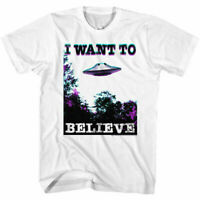 Hybrid Mens T-Shirt White Size Medium M The X Files Graphic Tee $20 #409