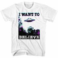 Hybrid Mens T-Shirt White Size Medium M The X Files Graphic Tee $20 #409
