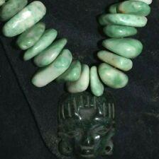 """Sale! Pre Columbian Mayan Jade Burial Necklace 12"""" Prov"""
