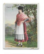 1911 T52 Turkish Trophies Cigarette Card Costumes and Scenery Italy