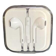 NEW! ORIGINAL APPLE IPHONE EAR BUDS EAR PHONES OEM 3.5mm PLUG WITH MICROPHONE