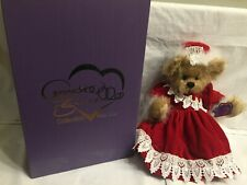 Vintage Annette Funicello Holly Mohair Bear Holiday Christmas Red Dress: Nib