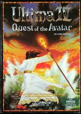 Ultima IV:Quest of the Avatar - Amiga - Complete Box w/Cloth map + ankh