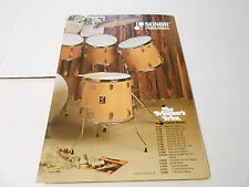 VINTAGE MUSICAL INSTRUMENT CATALOG #10202 -1970s SONOR DRUMS - PERCUSSION