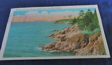 Antique Postcard of Mussell Ridges from Owl's Head Light, Rockland, Maine
