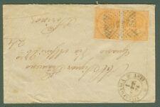 REGNO. Let. del 1.10.1874 da Villanova d'Asti /numerale a punti + doppio cerchio