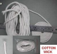 "Dia.  1/8 "" inch  ROUND COTTON KEROSENE OIL LAMP WICK , 20 feet , 20 FT"