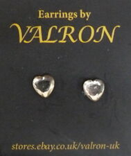 GOLD CRYSTAL STYLE HEART STUD EARRINGS IN PRESENTATION BOX - IDEAL CHILDREN (pm)
