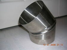 """8"""" stove pipe Stainless Steel 30 Degree Single Wall Elbow -- Made in Maine USA!!"""