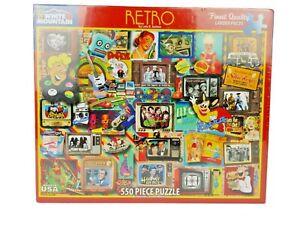 Throw Back White Mountain Retro Jigsaw Puzzle 550 Pieces