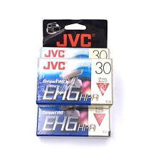 3 JVC VHS-C TC-30 EHGDU HiFi Cassette Tapes SP30 EP90 30mins/compact VHS