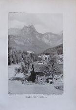 Benesch: Die Drei Brüder von Reit aus - Originaldruck aus 1910 Foto