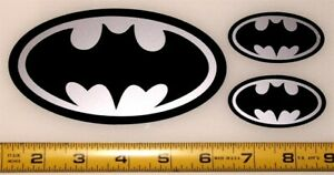 Batman Symbol - Set of 3 HQ 2 Color Vinyl Sticker Decals!
