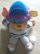 "Vintage Sports Popple Baseball Number 44 1986 Plush Stuffed Animal 11"" Long"