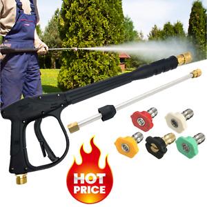 3000 PSI High Pressure Washer Gun Power Washer Extension Wand Lance Spray Nozzle