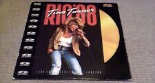 "TINA TURNER RIO 88 1st UK POLYGRAM MUSIC 12"" CD PAL VIDEO DISC 1988 LIVE CONCERT"