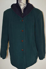 Vintage Mackintosh Duffle Vest Coat Forest Green Navy Wool Hooded Large USA