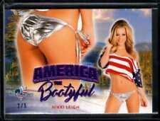 NIKKI LEIGH 2/5 PURPLE 2017 BENCHWARMER AMERICA BOOTYFUL BUTT CARD