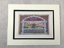 Rare Art Nouveau Print Jewish King Solomon Middle Eastern Hebrew Judaica 1930