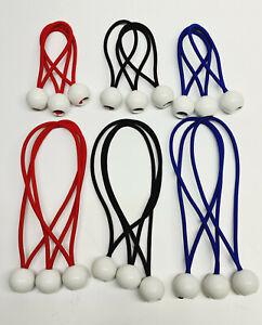 10x Ball Bungee Elastic Bungee Tent Boat Tie Loop Shock Cords Rope Easy Fix Ties