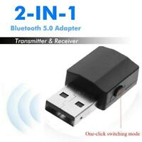 2-in-1 Stereo Audio Adapter One-click Bluetooth 5.0 Transmitter Receiver