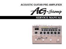 YAMAHA AG-Stomp Guitare acoustique Préamplificateur service manual Inc Schems anglais