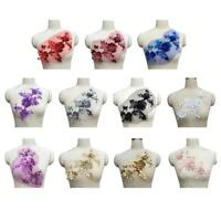 3D Sequins Flower Lace Applique Sewing Bridal Wedding DIY Trims Embroidery Decal