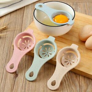 Kitchen Egg Yolk Separator Holder Divider Separator Tool Utensil Strainer Sieve
