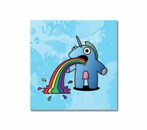 ~The Sick Unicorn - Blue Edition - Graffiti Canvas Print - Urban, Cute, Kidrobot